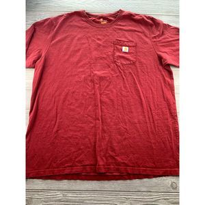 *Carhartt Pocket T Shirt 3XL  Tee Work Red